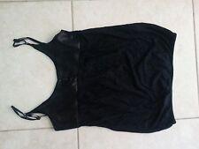 lotto 538 Top T-shirt maglietta canotta nero Tg.S/M con bordo raso