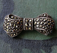 Silver Marcasite Brooch/Pin Art Deco Costume Jewellery