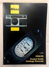 Nikon Product Guide 1994-1995, Softback Book. English/Italian