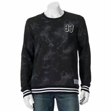 Zoo York Mens Size Large 93 Disorder Crew Black Grey Fleece Sweatshirt NEW