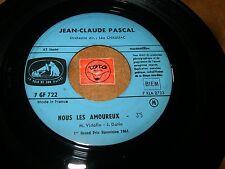 JEAN-CLAUDE PASCAL - NOUS LES AMOUREUX - LE GARS DE  / LISTEN - FRENCH POPCORN