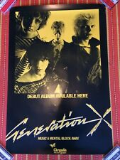 GENERATION X PUNK PROMO POSTER FOR THE 1977 ST ALBUM KBD BILLY IDOL KING ROCKER