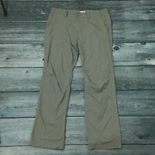 Men's MARMOT Lightweight Nylon Pants Size 36 Gray Hike Travel Backpack