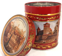 Lebkuchen-Shmidt Gingerbread Tin Round Collectible Storage Container Can