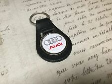 AUDI Quality Black Real Leather Keyring   A Q  1 2 3 4 5 6 7 R8 RS White TT