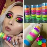 6Colour Glitter Shimmer Metallic Eyeshadow Neon Powder Pigment Eye Shadow Makeup