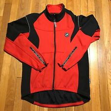 Mens Castelli Strato Sheer Cycling Jacket Red Black Size L