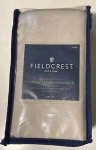 Fieldcrest Sateen Pillowcase Set Supima Sea Salt King 700 Thread