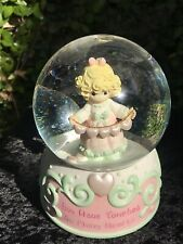 Precious Moments Musical Waterball You Have Touched Many Hearts Snow Globe