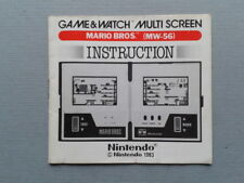 NINTENDO GAME&WATCH MARIO BROS MW-56 ORIGINAL INSTRUCTION MANUAL GOOD CONDITION