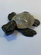 Sea Turtle Figurine Hand Carved Stones Natural Polished Vintage Wildlife Art