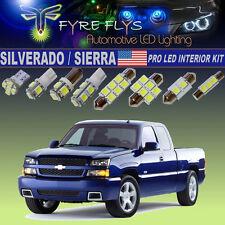 14x Xenon White LED Interior Lights Pro Package Kit 1999-2006 Silverado Sierra