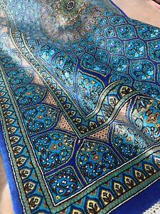 Handmade rug carpet  100% pure silk W sign/Authentic Qomm/KPSI 600 فرش قم ایران