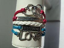 Heart/Quote/Love/Best-Friend Bracelet