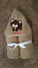 Personalized Bear Hooded Towel