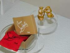 Christian Louboutin Barbie 2010 Spectacular Gold Dress Sandals~Box & Bag