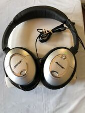 Bose QuietComfort 15 Acoustic Noise Cancelling Headphones Silver QC15 Used