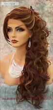 LACE FRONT LACE FRONT C PART LAYERED CURLY WIG CLR FS8.27.613 GORGEOUS SEXY 129