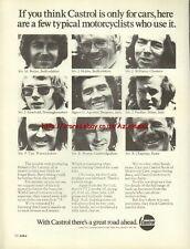 Castrol Motor Oil Motorcycle 1976 Magazine Advert #753