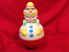Vintage Roly Poly Type Colorful Clown Musical Toy 1977 Sanitoy Inc Fitchburg, MA