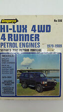 Gregorys SP No 506 Toyota Hi-Lux 4WD 4 Runner Petrol Engines 1979 – 1989 Manual