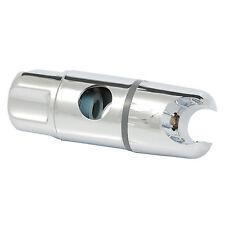 CHROME BATHROOM SHOWER BRACKET SLIDER RISER RAIL TWIST FITS 19MM