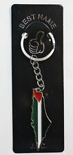 New Palestinian Map Keychain - W/ Palestine Flag Map and cities names on back