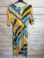 Anthology Ladies Stripe Short Sleeve Wrap Dress Size 22 New With Tags