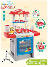 LARGE CHILDRENS KIDS KITCHEN COOKING ROLE PLAY PRETEND TOY COOKER GAME SET