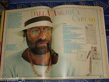 LUCIO DALLA storia canzone CARUSO clipping ritaglio articolo foto