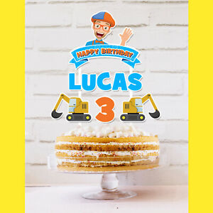 BLIPPI Cake Topper Personalised *STURDY* Kids Birthday Party Decorations