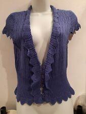 Blue Short Sleeve Crop Cardigan.  Size Medium (12-14?). M & Co