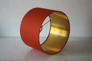 Lampshade, Pumpkin Gold n with Brushed Gold, Silver or Copper Lining