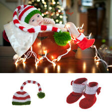 Newborn Baby Girl Boy Crochet Knit Costume Photo Photography Prop Hat & Trousers
