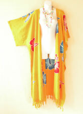 CD351 Batik Plus Cardigan Duster Beach Kimono Maxi Dress Wrap - 2X, 3X, 4X & 5X