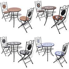 vidaXL Set de bistro mosaïqué table et 2 chaises de jardin Multicolore