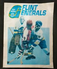 Flint Generals vs Kalamazoo Wings 1982-83 Souvenir Program