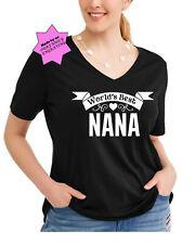 Womans plus size Best Nana shirt top vneck