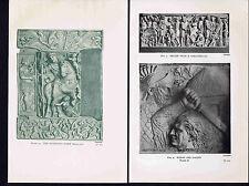 Roman Reliefs Sarcophagus, Dacian, Barberini Ivory  -1912 Prints Set B