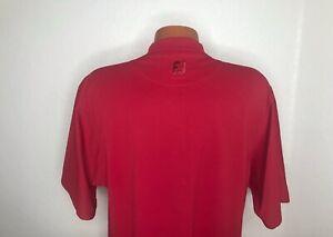 Men's Footjoy S/S Mock Golf T-Shirt Size Medium (M) Red - Polyester