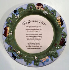 The Giving Plate Friendship Family Farm Cottage Trees Embossed Tray Platter Gift