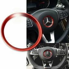Red Steering Wheel Emblem Logo Trim Ring for Mercedes C E CLA GLA GLC 16-19 NEW