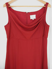 NEW! WTOO by Watters & Watters Gorgeous Red Full Length Drape Neck Dress Gown 10