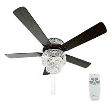River of Goods 52 in. Silver Punched Metal Ceiling Fan