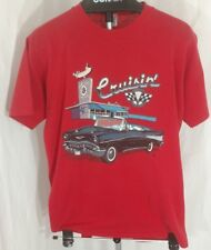 1957 Chevy Bel-air vintage Cruisin Jerzees T shirt drive in 50/50