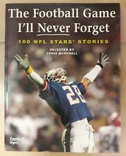Football Game Book I'll Never Forget 100 NFL Stars Stories Digest First Printing