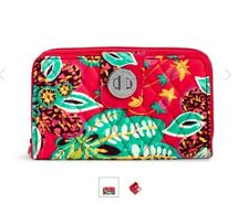 Vera Bradley FRID Turn Lock Wallet in Rumba NWT Fast Shipping