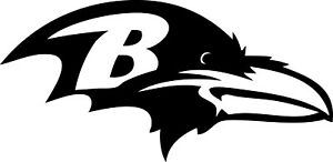 """Baltimore Ravens NFL Decal """"Sticker"""" for Car or Truck or Laptop"""