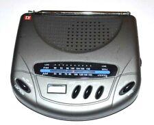 Personal Portable AM/FM Radio Clock W/ Antenna TV Guide Radio Tuner Vintage