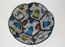 DALEK Embroidered Fabric Bowl Space Reversible Decorative Dr. Who Home Decor